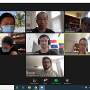 Aug. 10, 2020. Group meeting on Zoom.